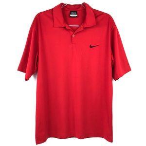 Men's Nike Golf Dri-Fit Red Polo Shirt Medium